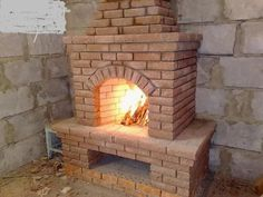Architecture, House, Fireplaces, Home Decor, Google, Natural Pools, Red Brick Fireplaces, Bricks, Cottage