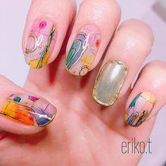 写真の説明はありません。 Japan Nail Art, Japanese Nails, Nail Arts, Cute Nails, Summer Nails, Nail Art Designs, Artsy, Make Up, Beauty
