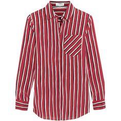 Altuzarra Striped silk crepe de chine shirt, Women's, Size: 40 (7.290 NOK) ❤ liked on Polyvore featuring tops, shirts, altuzarra, claret, red stripe top, tailored shirts, shirt tops and red silk shirt