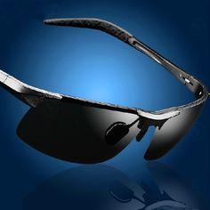 6e04cfce994 Aliexpress.com   Buy Sunglasses Men Polarized Fishing Sun Glasses Oculos De  Sol Masculino Alloy Driving Sun Glasses With Case Black from Reliable  glasses ...