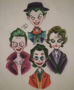 Who is your favorite? Joker Drawings, Batman Drawing, Cartoon Drawings, Joker Sketch, Tim Burton Drawings Style, Tim Burton Art Style, Joker Et Harley Quinn, Harley Quinn Drawing, Joker Art