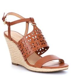 Onex Christina Leather Banded Cork Wedge Sandals FYslN