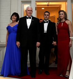 US Vice President Mike Pence with his wife Karen and family leave his residence at the Naval Observatory to attend inaugural balls in Washington, U.S., January 20, 2017. REUTERS/Yuri Gripas via @AOL_Lifestyle Read more: https://www.aol.com/article/lifestyle/2017/01/20/melania-trump-wows-in-white-2017-inaugural-ball/21659651/?a_dgi=aolshare_pinterest#fullscreen