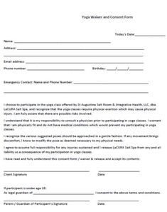 28 Best Yoga Liability Waiver Form Ideas Liability Waiver Liability Yoga