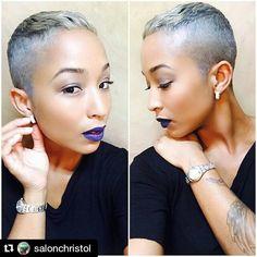 #Repost @salonchristol Style from @salonchristol of Largo, Maryland ・・・ Ice Metallic #haircut #haircolor #thecutlife #salonchristol @amberlin__ Hair Salon Finder www.afrohair.com