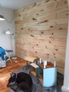 How to Plank and Paint a Wall on a Budget - Front Porch Mercantile Wood Plank Walls, Wood Planks, Wooden Walls, Pallet Walls, Wooden Wall Bedroom, Design Seeds, Cool Ideas, Creative Ideas, Alternatives To Drywall