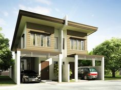 Duplex House plan PHP-2014006 is a four bedroom house plan design including the maid's room at the ground floor.