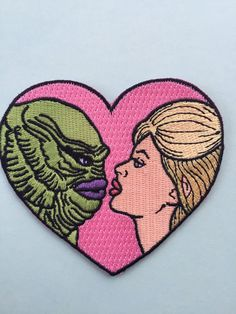 """I'm in love with The Creature from the Black Lagoon iron on patch -3.5"""" From youwereswell"""