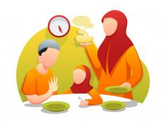 Suhoor or Sahūr is the pre-dawn meal Muslims take in the month of Ramazan. Suhoor also called Sehri, Suhui, Sahari, and Sahur in other languages. Iftar, Ramadan, Design Thinking, Islamic Wallpaper Hd, Nature Wallpaper, Design Ios, Logo Design, Flat Design Illustration, Character Illustration