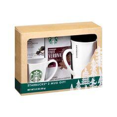 Starbucks 2 Mug Holiday Gift Set, 4 pc Walmart.com ($17) ❤ liked on Polyvore featuring home, kitchen & dining, drinkware, holiday gift sets, holiday mugs and set of 4 mugs
