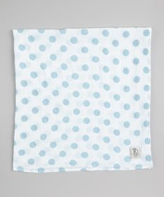 Blue Muslin New Dot Receiving Blanket