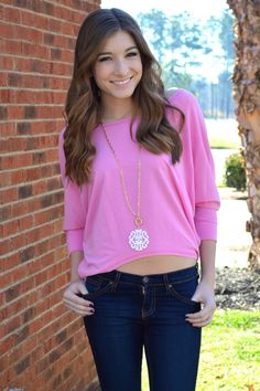 Melanie Top (Pink) – Girly Girl Boutique