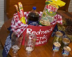 This one could be really fun : Redneck Picnic Basket