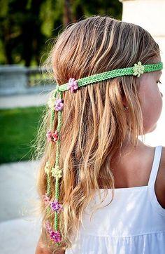 Summer Girl - knitted headband pattern on Craftsy.com