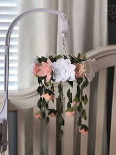 Fantastic baby nursery info are available on our web pages. Read more and you wont be sorry you did. Felt Roses, Felt Flowers, Fabric Flowers, Cute Teen Rooms, Flower Mobile, Flower Nursery, Modern, Baby Arrival, Website