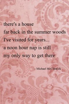 Tanka poem: there's a house-- by Michael McClintock.