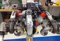 Log style turbo header fabricated for a LS swapped 1990