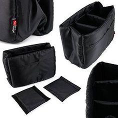 DURAGADGET - Séparateurs / organisateur pour sac à dos / sac à main - 3 compartiments pour ranger les appareils photos Canon EOS 1Ds Mark III et Mark IV, 5D MK II/Mark III