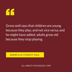 Classic quote by psychology pioneer Granville Stanley Hall. Visit --> http://www.all-about-psychology.com for free psychology information and resources. #psychology
