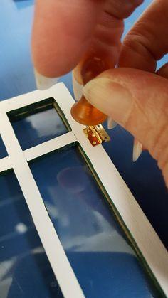 how to: miniature door hinges