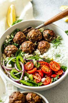 Tzatziki Sauce, Greek Dinners, Greek Meatballs, Cooking Recipes, Healthy Recipes, Kid Recipes, Dinner Recipes, Dinner Ideas, Dessert Recipes