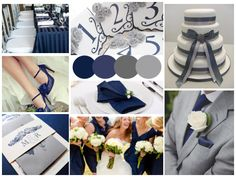Navy and Grey Wedding // from Mariell // Read more at http://mariellonline.net/2013/10/23/wedding-inspiration-navy-and-grey/