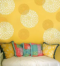 Yellow Images Stencil Projects Decor