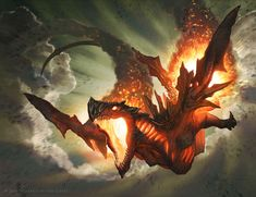 "Jason Chan - ""Hellkite Igniter"" TCG Magic card for Wizards of the Coast"