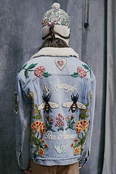 Вышитая джинсовка / Курточные переделки / ВТОРАЯ УЛИЦА