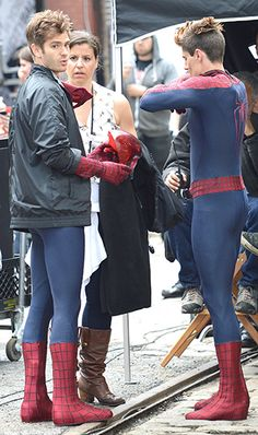 Andrew Garfield . . . and his stunt double!