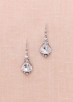 One Of Our Most Por Styles These Vintage Inspired Swarovski Crystal Drops Hang From