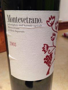 2003 montevetrano from italy