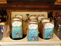 Popcorn And Pop Party Favor Nursery Rhyme Theme Baby Shower
