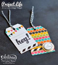 Love these adorable tags made with the PLxSU pocket cards