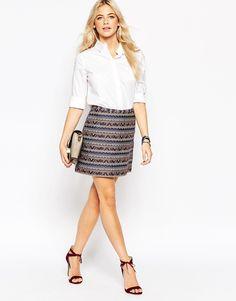 JT: Oasis Jacquard Mini Skirt