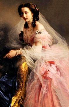 One of the most famous painting by Franz Xaver Winterhalter was that of Princess Anna of Prussia. The princess, dressed in this painting. Franz Xaver Winterhalter, Portraits, Portrait Art, Reine Victoria, Retro Mode, Painted Ladies, Victorian Art, Prussia, Woman Painting
