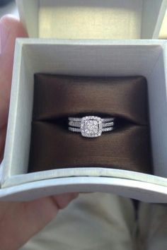 Wedding Rings White Gold Over Round Diamond Solitaire Engagement Ring Wedding Band Do It Yourself Wedding, Tungsten Wedding Bands, Ring Verlobung, Dream Ring, Schmuck Design, Diamond Are A Girls Best Friend, Wedding Engagement, Solitaire Engagement, Thick Band Engagement Ring