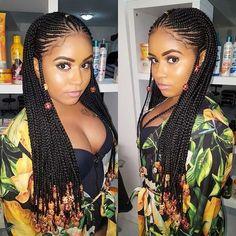 Beaded Fulani Inspired Long Braids #fulanibraids