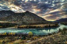 Dawn at the Katun River, 2011. Photo: Andrew Kudrin. Altai region, southern Siberia.
