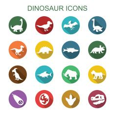 dinossauro ícones longa sombra