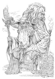lord of the rings gandalf by nachocastro - Lotr Coloring Pages