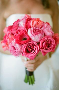 All Pink Bouquet ~ Coordination by Mint Julep Social Events.