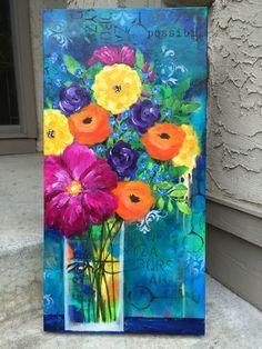 Acrylic paint, stencils, spray paint on canvas.by Betsy Walc… Acrylic paint, stencils, spray paint on canvas.by Betsy Walcheski Acrylic Canvas, Canvas Art, Acrylic Spray, Acrylic Resin, Diy Canvas, Spray Paint Artwork, Spray Painting, Pintura Graffiti, Decoupage Vintage