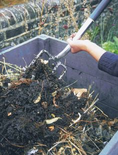 Improve soil quality in your garden by applying these composting basics, and learn how to make a compost bin with materials from around the house.