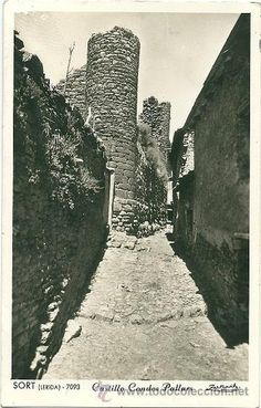 1545 - SORT (LÉRIDA)  POSTAL FOTOGRÁFICA - CASTILLO  CONDES  PALLARS - ZERKOWITZ