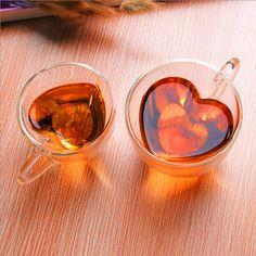 Cheap mug pot, Buy Quality mug favors directly from China mug cover Suppliers: Heart Shaped Heat-Resisting Double Wall Clear Transparent Glass Tea Cup Handmade Mini Coffee Mug Gift Double Layer Glass Mug
