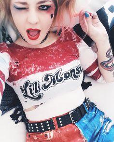 DIY Harley Quinn por Talitah Sampaio #talitahsampaio #esquadrãosuicida…