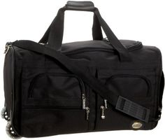 Rockland Luggage Rolling 22 Inch Duffle Bag: http://www.amazon.com/Rockland-Luggage-Rolling-Inch-Duffle/dp/B004NIH7TW/?tag=monmak04-20