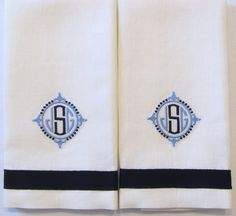 I love these towels made for a client on Long Island.