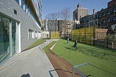 small playground - urban school